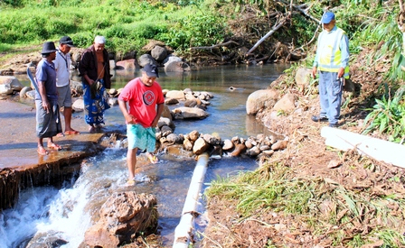 Rural villages get on top of water repairs